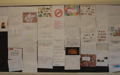 Students spill secrets on Wilmot's wall
