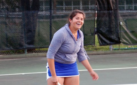 Girl's tennis enjoying the moment, looking forward to next year