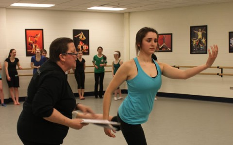 Orchesis learns new steps from guest choreographer Corey Nagel