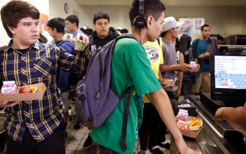 Coffee drinking, vegetarianism among trends showing up in the cafeteria