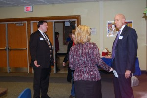 Board candidates campaign at coffees, open houses, and forums