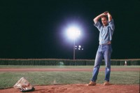 "Kevin Costner showing off his pitching arm in 1989's ""Field of Dreams"""