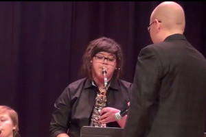Jazz Band performs at middle school concert night