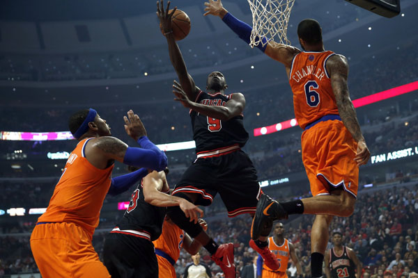 With the hole Loul Deng left. Joakim Noah has filled it offensively. But will it be enough? Welcome to THE RED LINE