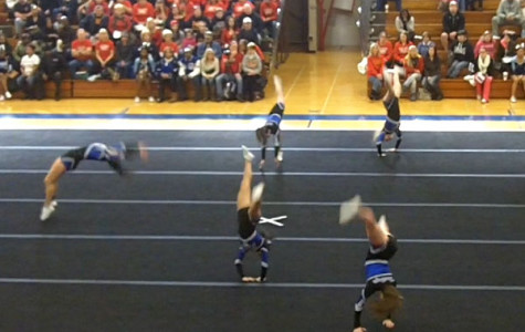 Varsity cheerleading falls short at state