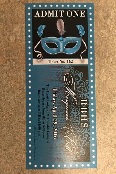 A 2016 RB Prom ticket.