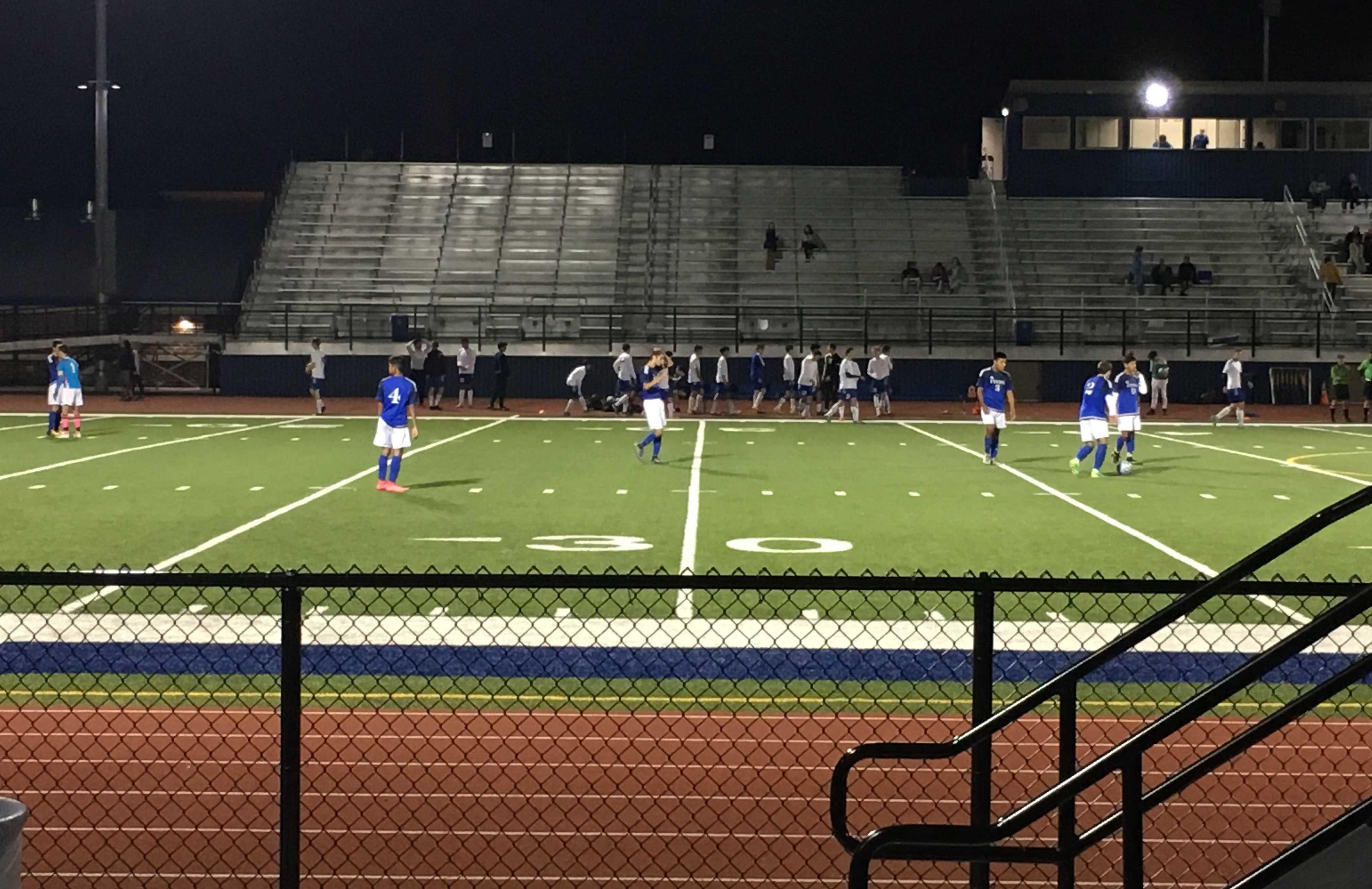 Boys soccer against Fenton
