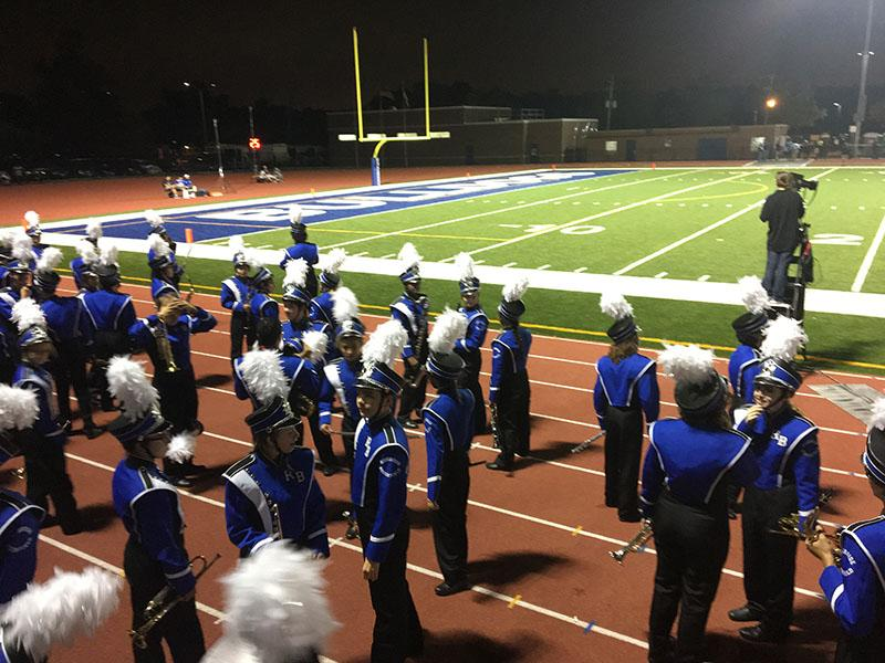 Marching+band+getting+ready+to+perform.+
