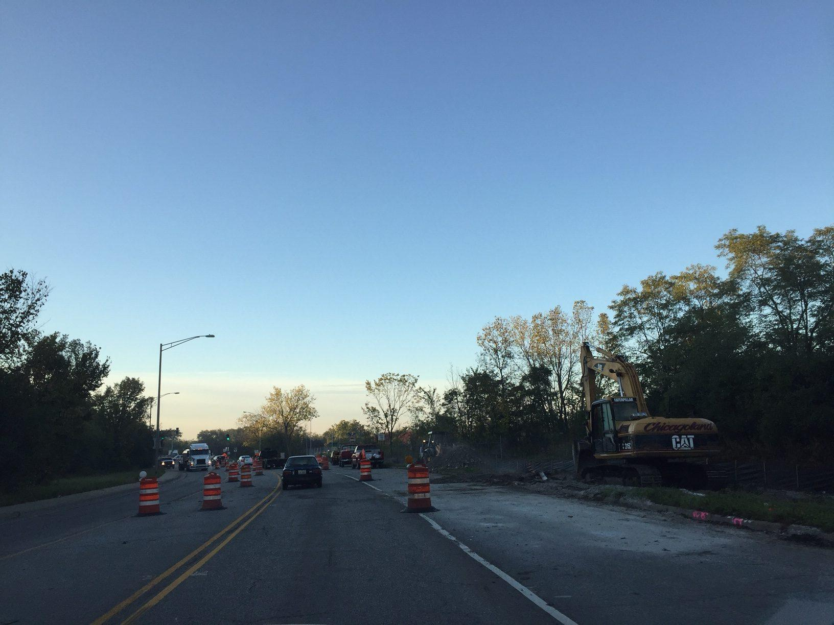 Construction on Golf Road