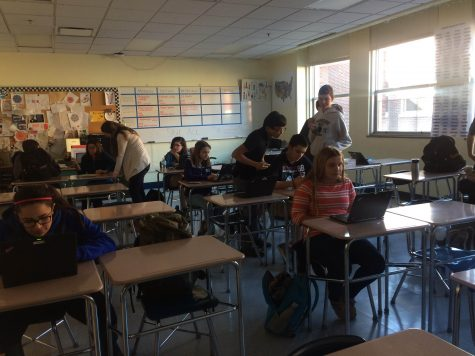 model U.N. students prepare for conference after school