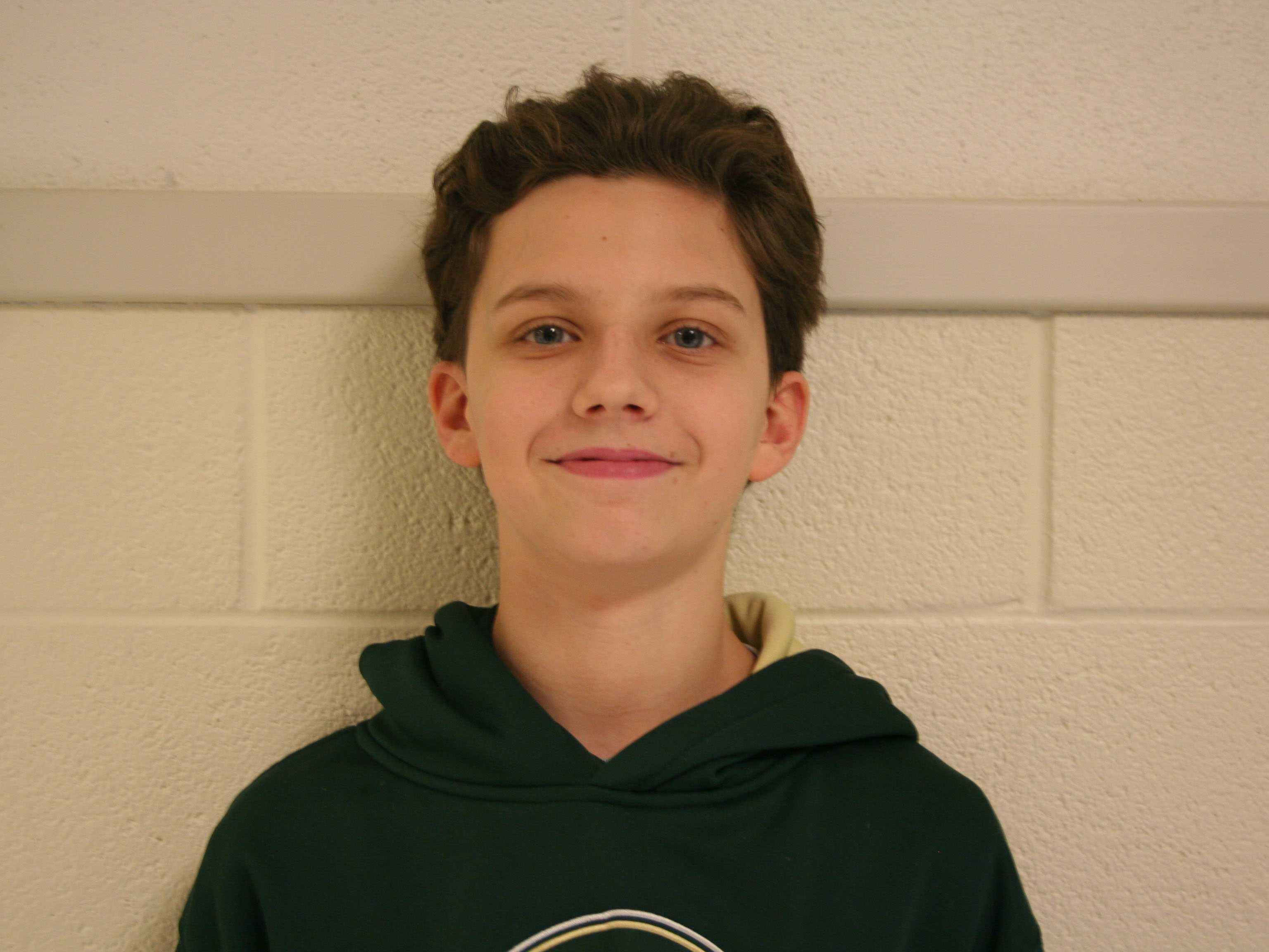 Sophomore Ian Vranek posses for picture