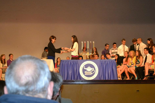 Stephany at the NHS ceremony.