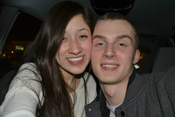 Stephany and her boyfriend on their 2 year anniversary.