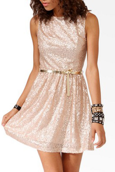 Shimmering Pale Pink Dress