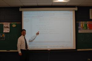 Software engineer visits Math department