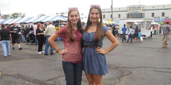 Senior, Nicole DeLeonardis and I at the Melrose Park Festival over the Labor Day weekend.