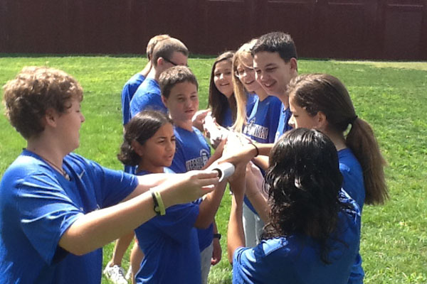 2012-2013 SEE Team students join together in a teambuilding activity.  The team is returning after being suspended due to low enrollment last year.