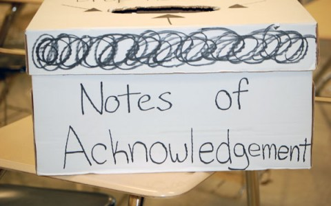 Missed your opportunity? The next time to write a Note of Acknowledgement is Wednesday, December 12th during your lunch.