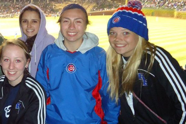 Ashley (far right) at a Cubs game with friends!