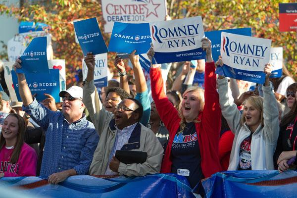 Hundreds of Romney and Obama supporters showed up in Kentucky before the Vice Presidential Debate.  Columnist Lauren Grimaldi asks us where our motivation level is.