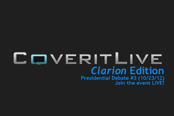 Watching the last debate?  Watch with ClarionLIVE!.