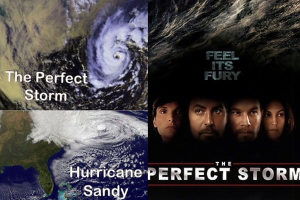 Hurricane Sandy maybe didnt create a feauture film like the Perfect Storm but it did create much more devastation than the Perfect Storm ever did.