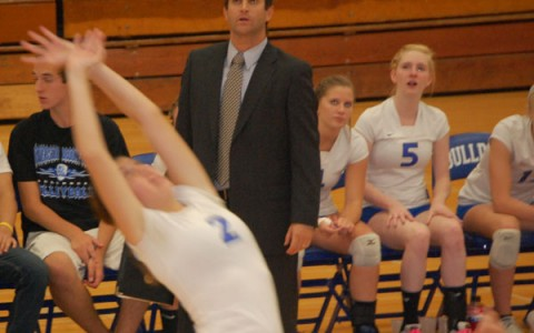 Coach Dan Bonarigo guided the girls volleyball team to a stellar 25-12 record before losing at Regionals to Hinsdale South.