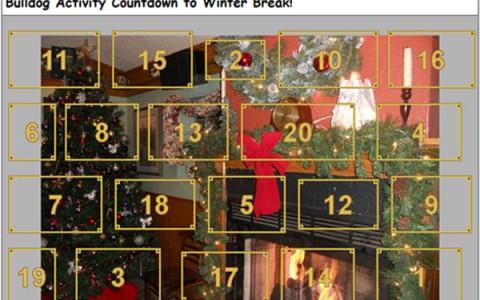 Enjoy 20 days of Bulldog holiday fun with our Advent-style calendar.