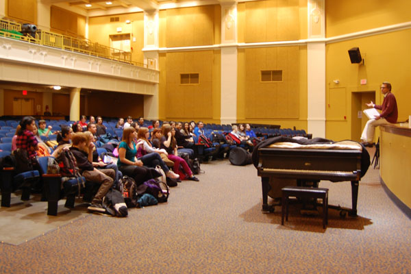 Students attend their first rehersal for the Spring Musical. This year, over 50 students are participating.