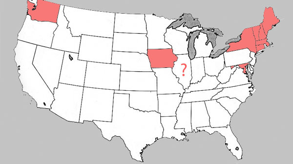States like Iowa and New York have already legalized same sex marriage.  Will Illinois be the next to follow?