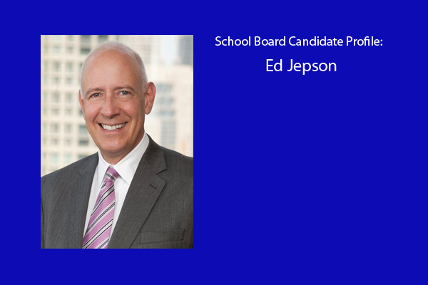 Ed Jepson is one of six candidates running for three positions on the RBHS school board.  The election will be held in April.  Jepson is running as a ticket with current board members Matthew Sinde and Mike Welch.
