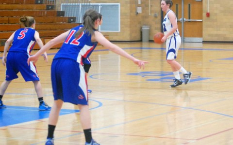 Guard Hannah Claywell helped guide the Lady Bulldogs to victory over Glenbard.
