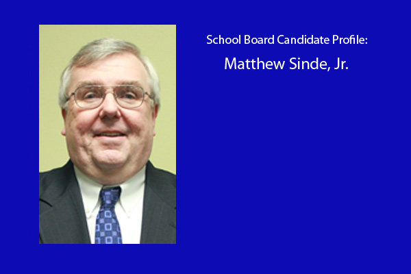 Matt Sinde is one of six board members vying for three positions on the RB school board.  The election will be held in April.  Sinde is the current RB board president.