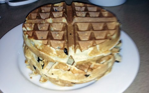 Whether you like them plain, stuffed with blueberries, or dripping with chocolate, home-made waffles far out-class something from a box.