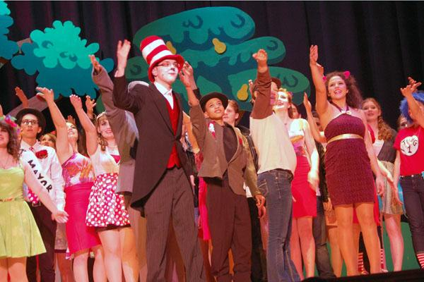 Joe Rogers, in the role of the Cat in the Hat, helped headline Seussical:  The Musical, which interwove the various classic stories of Dr. Seuss.  This musical marks the return of the Spring Musical after a one-year hiatus.