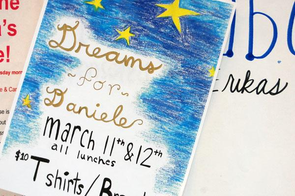 After much fanfare, Dreams for Daniele is only a few days away.  A Fine Arts silent auction March 18 will precede the event and raise additional funds.