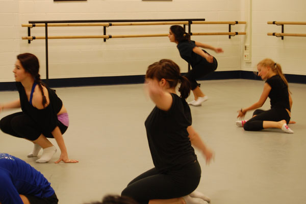 The+Repertory+Dance+Ensemble+is+practicing+for+the+Winter+Concert.