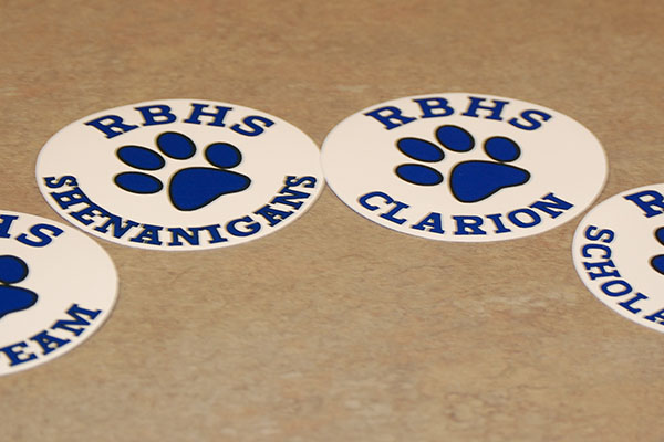 Decals like these are available for purchase through the PTO for all RB activities.