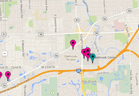 This map contains a variety of places to help with preparing for the homecoming dance.