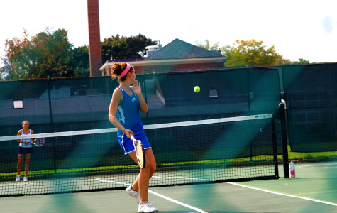 Senior, Nikki Sinnott, gets ready to swing.
