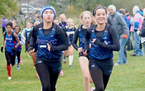 Natalie Cote and Emma Pizana lead the pack of RB runners at the Lisle Invite.