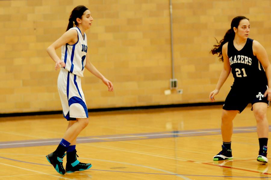 Junior Brenda Ulloa waits aggressively for the ball. Moving quickly to stay open, she is a valuable addition to the team.