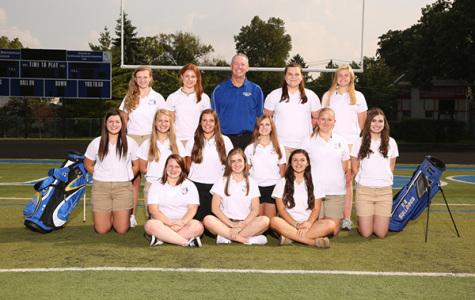 The girls golf team poses for a picture to mark the beginning of what is hopefully a successful team in the future.