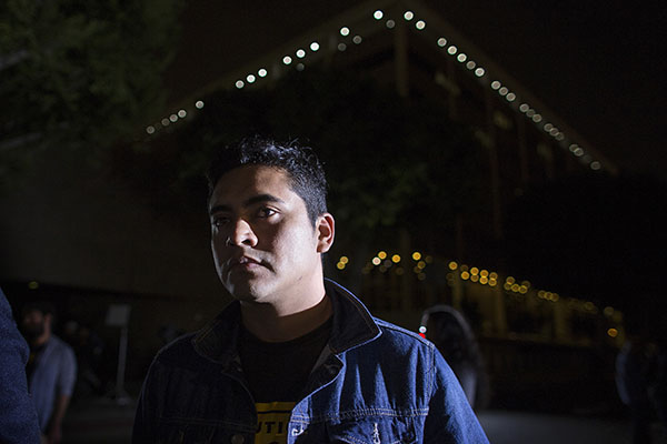 Armando Ibanez, originally from Acapulco, Mexico, now living in California, attends an immigration rally after President Obama's speech, outside the Los Angeles Metropolitan Detention Center on November 20, 2014. President Obama's executive action on immigration will not extend to Ibanez, one of roughly 6 million people living without legal status in the U.S. who won't qualify. (Gina Ferazzi/Los Angeles Times/TNS)