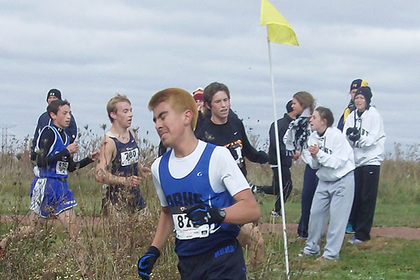 RB competes at the cross country sectionals.  This year, the boys' team sent Wayne Moreli to state where he placed 112th.