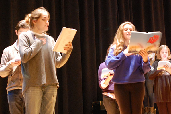 The cast of Bye Bye Birdie is in the initial stages of rehearsal.  This year, the school has put on a Fall play and a Spring musical for the first time since the failed referendum.
