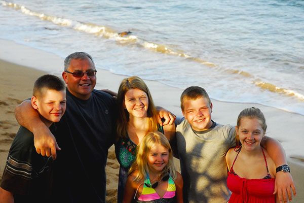 Filec and his family enjoy their vacation on the beaches of Hawaii.