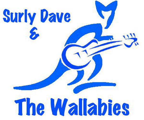 The official logo for Surly Dave and the Wallabies.