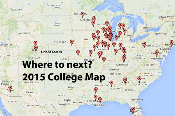 Where is the Class of 2015 heading?  Use our map to find out.