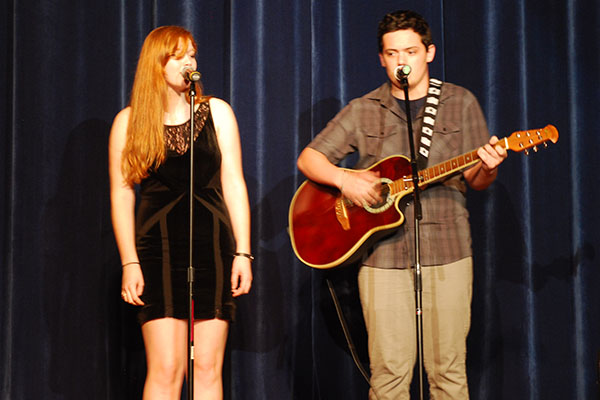 Graduate Annabelle Daily and Senior Nick Malone performing in RB's Got Talent 2013 show.